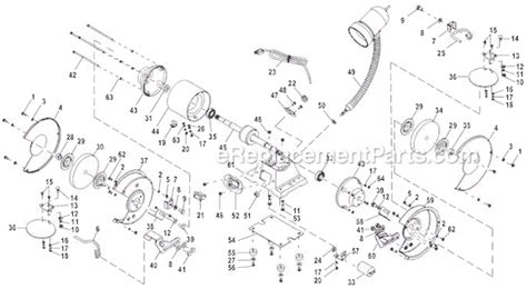 ryobi bench grinder parts ryobi bgh615 parts list and diagram ereplacementparts com