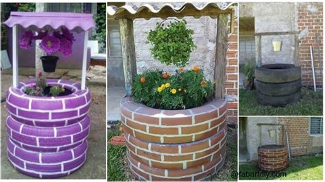 Tire Planters Diy by Diy Tire Wishing Well Planters Tutorials