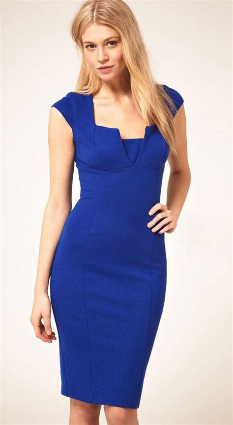 Cap Sleeve Sheath Dress royal blue square neck cap sleeve sheath dress abaday