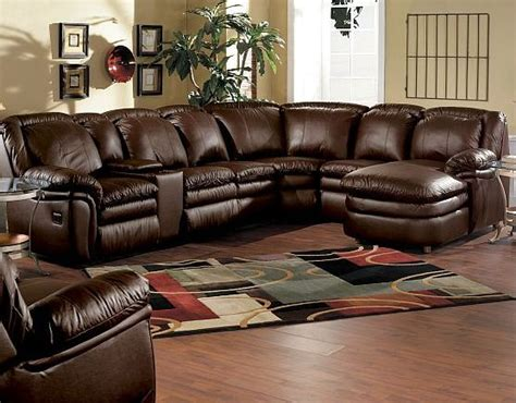 lane stallion sectional lane home theater stallion reclining sectional with chaise