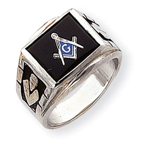14k white gold mens masonic ring products gold and