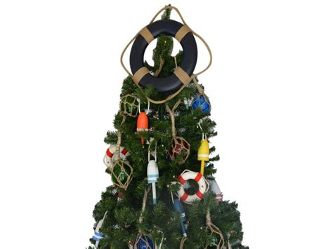 buy blue lifering christmas tree topper decoration