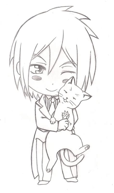 sebastian black butler chibi coloring pages sketch