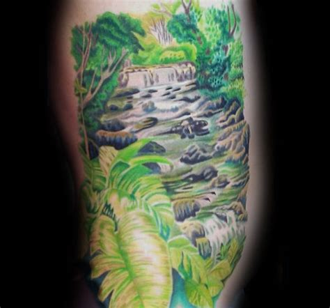 waterfall tattoos designs 70 waterfall designs for glistening ink ideas