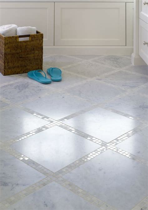 mosaic bathroom floor tile ideas bathroom floor with marble tiles and marble mosaic inset
