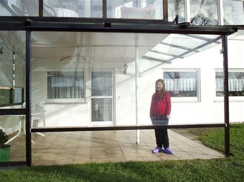 billige markisen transparente folie f 252 r terrassen und balkone als rollo