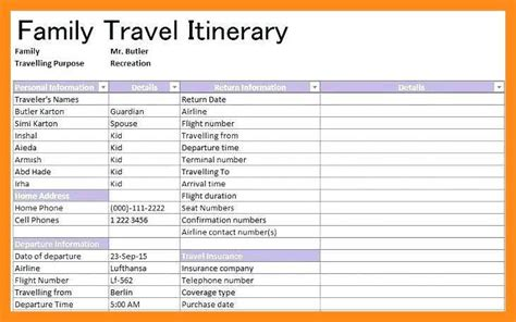 12 13 Family Vacation Planner Template Lascazuelasphilly Com Family Vacation Planner Template