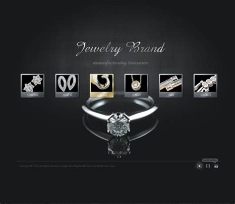 jewelry templates jewelry brand dynamic gallery admin flash template