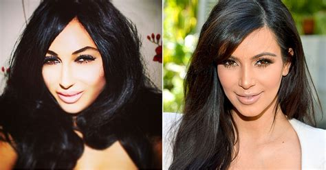 kim kardashian and every celebrity looked like a couch kim kardashian look alike spent 30 000 on plastic surgery