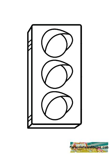 senales de transito para colorear colorear dibujo de semaforo colorear dibujos