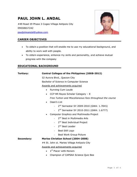 Sample Resume For Ojt Computer Science Students by Sample Civil Engineer Resume Templates