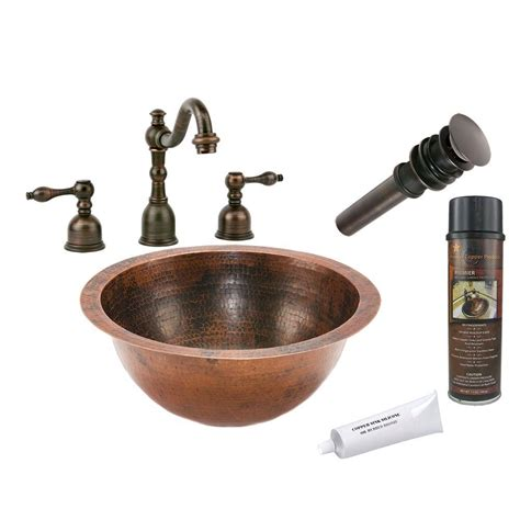 premier copper products premier copper products all in one small counter hammered copper bathroom sink in