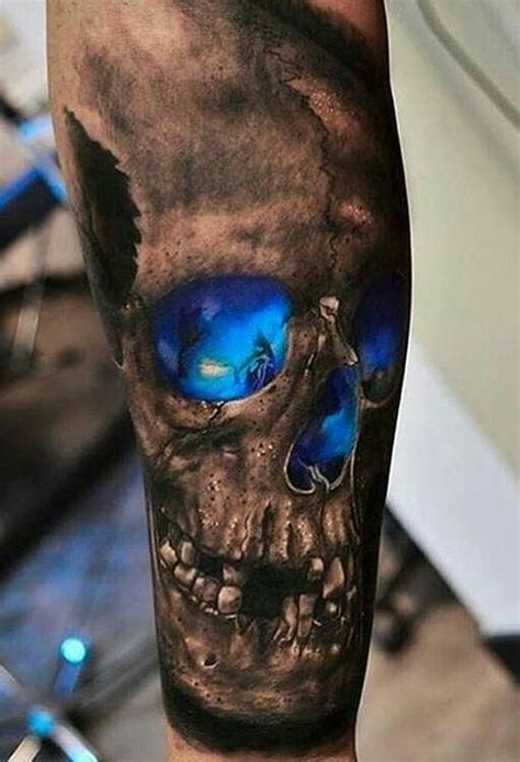 black and blue tattoo 22 awesome skull ideas for styleoholic