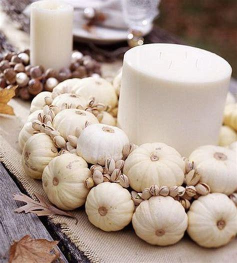 autumn white pumpkin centerpiece thanksgiving fall pinterest