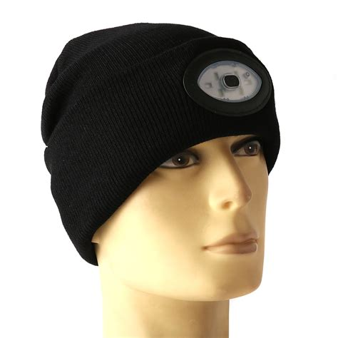 Knit Hat With Led Lights by Sports Running 6 Led Beanie Knit Hat Rechargeable Cap Light Cing Climbing L Alex Nld