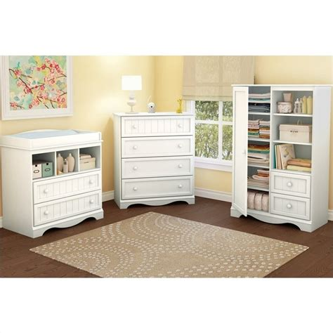 South Shore Changing Table White South Shore Handover Changing Table In White Finish 3580330