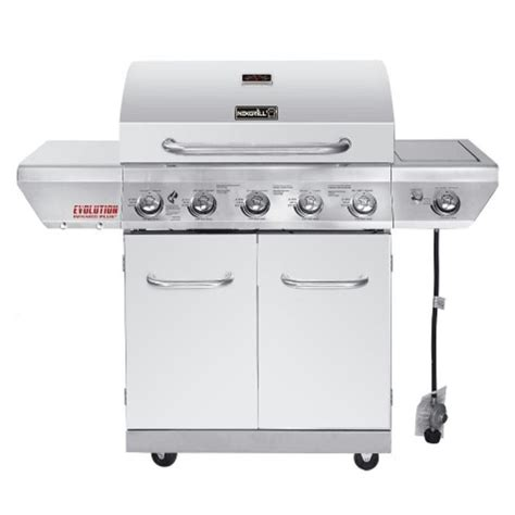 nexgrill evolution 5 burner stainless steel gas grill with