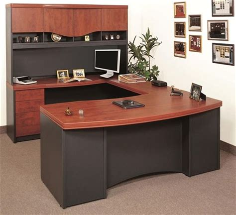 shaped desk ikea multi functional  large desk  office furniture executive office