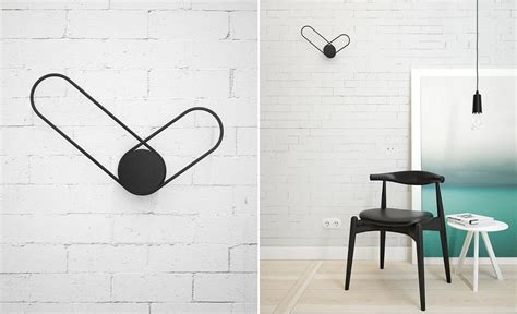 minimalistic wall clock klipp minimalist wall clock by line studio