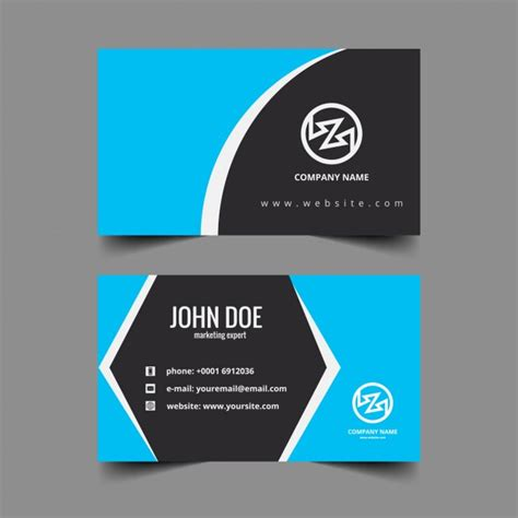 card with photos corporate visiting card with hexagonal shape vector free