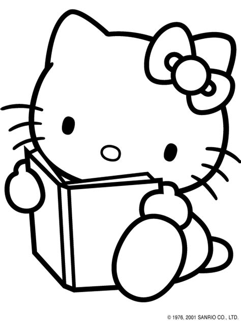 imagenes hello kitty blanco y negro hello kitty and a book how perfect if only there was a