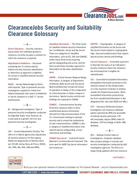 security clearance information