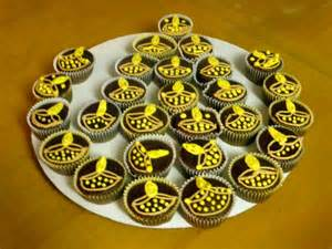 Diwali Home Decorations Eggless Cup Cakes Raji Creations