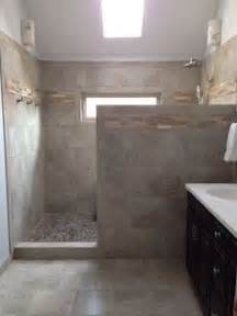No Walls walk in shower no door i think this is going to be about the same size