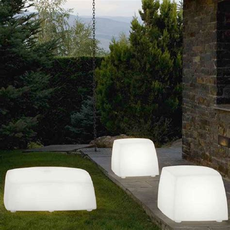illuminated outdoor furniture patio lighted illuminated outdoor seating stool homeinfatuation