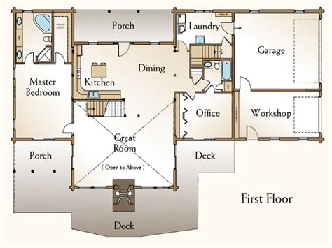 new 4 bedroom log home floor plans new home plans design