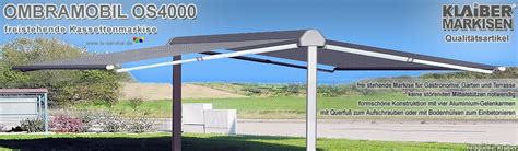 elektrische markisen preise klaiber ombramobil os4000 freistehende gelenkarmmarkise