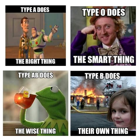 How To Type Memes - 25 best ideas about blood type personality on pinterest