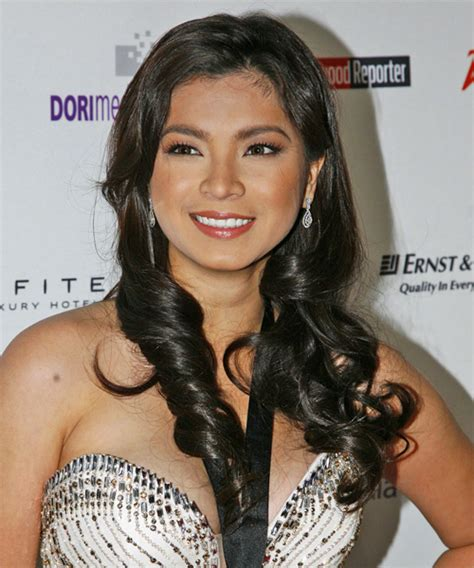 angel locsin in curly hair angela locsin long wavy casual hairstyle