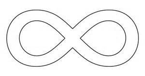 infinity symbol template infinity symbol pattern use the printable outline for