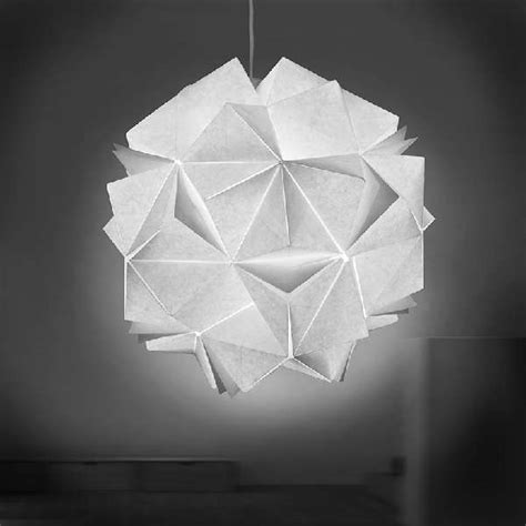 Origami Light Fixture - collapsible papercraft lighting origami light fixtures