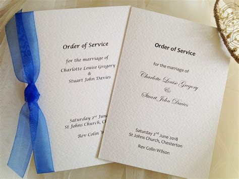 wedding order of service cards template order of service books for weddings wedding stationery