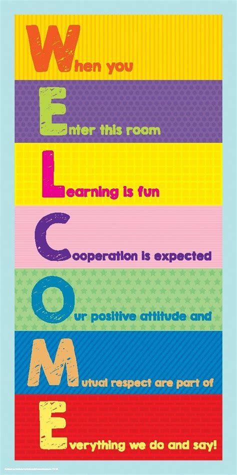 printable welcome poster 50 best classroom posters images on pinterest classroom
