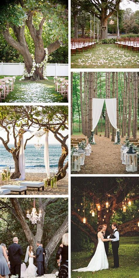 outdoor wedding ceremony a tree wedding ideas