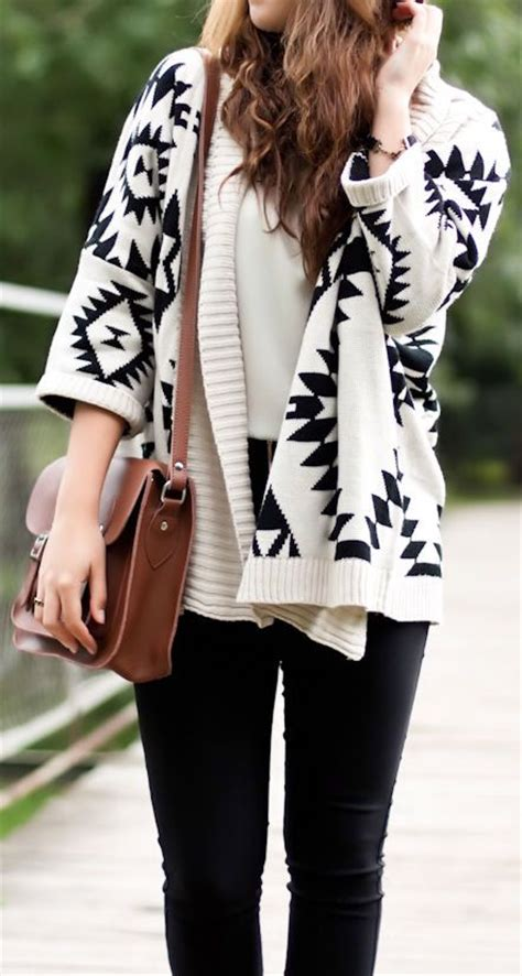 Sweater Tribal style with cardigan sweater 187 fashion trends and tips