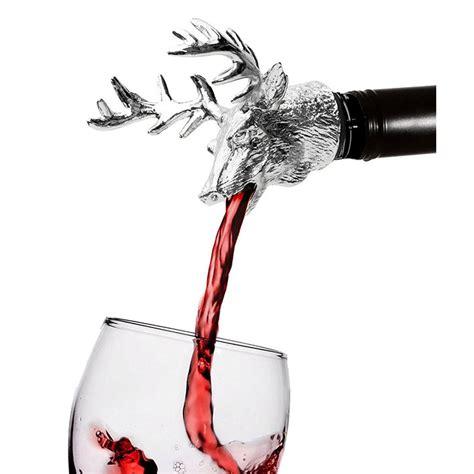 Penuang Botol Wine Magic Aerator Pour penuang botol wine aerator pour model deer silver jakartanotebook