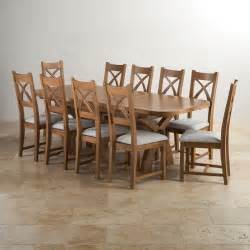 hercules dining set in rustic oak extending table 10