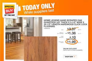 home depot online only hardwood flooring 1 99 sq ft monday only