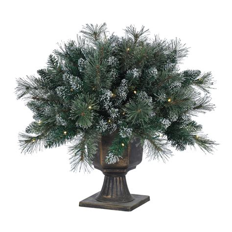 24 quot led pre lit battery operated frosted artificial topiary warm white northpoledecor