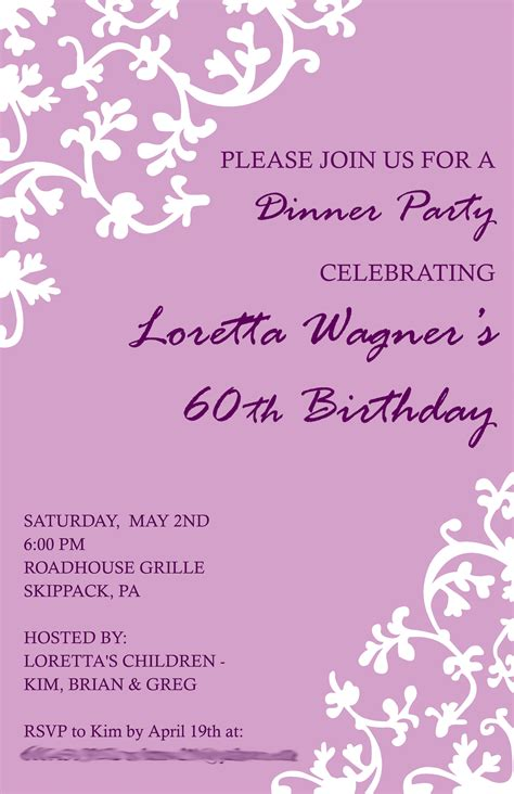 template for birthday invitations birthday invitation invitation templates