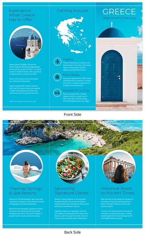 World Travel Tri Fold Brochure Template Venngage Make A Travel Brochure Template