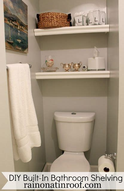 bathroom 4 less built in bathroom shelving diy for 25 or less toilets