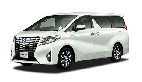 toyota launches  alphard  vellfire minivans