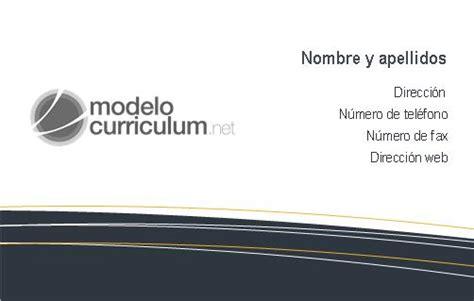 Plantilla De Curriculum Publisher plantilla de tarjeta de presentaci 243 n con publisher para