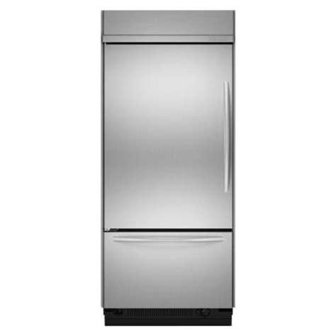refrigerator with bottom freezer swing door kitchenaid architect series ii 20 8 cu ft built in bottom freezer refrigerator with left hand
