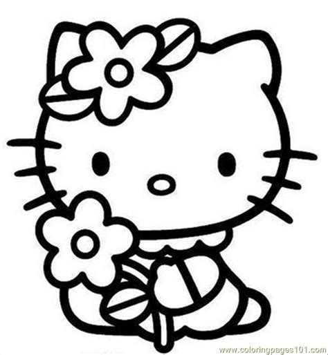 free coloring pages of hello kitty